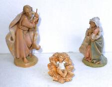 3 Piece Roman Fontanini Depose Italy Holy Family 7.5� Scale Nativity New Style