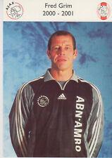AUTOGRAMMKARTE / AUTOGRAPHCARD 2000-2001 Fred Grim Ajax Amsterdam