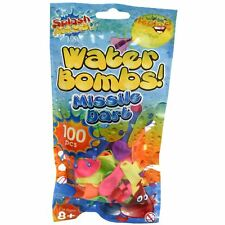 100 Pack Water Bomb Balloons Missile Dart Screw Bottle Water Filler Summer Fun