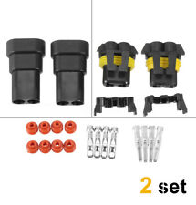 2 Set 9006 9005 HB4/HB3 Female Male Connector HID Plug Socket Joint Head Adaptor