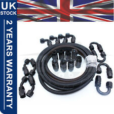 AN -8 AN8 Fitting Adaptor 11MM Nylon Braided Fuel Oil Hose Line Pipe 10M Kit