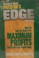 Carleton H. Sheets Investor's Edge: How to Sell (Or Rent) for (DVD, 2004) (C)
