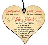 #682 Plaque Sign Good / Best Friend Gift Shabby Chic Heart Birthday Christmas
