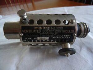 ANTIQUE McIntosh Ventilated Socket Controller Surgical Lamp & Light Adjustor