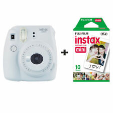 Fuji Fujifilm Instax Mini 9 Instant Camera with 10 Shots - Smoky White