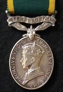 Efficiency Medal Territorial WW2 POW 1943 - Sgt. Waters from Easington Durham