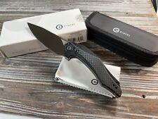 Civivi Plethiros Black Linerlock Folding Knife Pocket Folder C904C