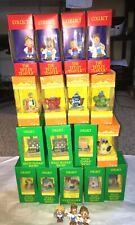 Vintage Tetley Tea Folk Miniature Houses Figures Teapots 1994/95 Boxed x17