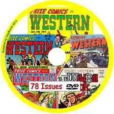 Prize Comics Western & Cowboy Western Comics on DVD 78 issues +vviewing software