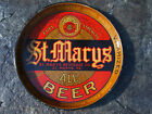 Early 1900's Antique Metal Beer Tray St. Mary's Beverage Co Beer Ale St. Mary Pa