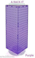 "For Sale Counter Spinner Pegboard Display Rack- 8"" x 8"" x 20"" Tall  (Purple)"