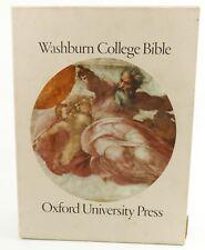 Washburn College Bible King hardbackJames Oxford University Press slipcover