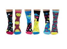 United Oddsocks Mojitoes Set of 6 Oddly Mis Matched Ladies UK 4 - 8 Fun Socks