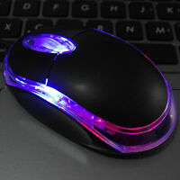 Black PopB Wired Optical Light Scroll Wheel Mice Mouse for PC Laptop ComputerPop
