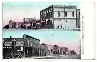 1910 Main Street looking North, Renville, MN Postcard
