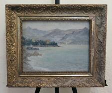 Malerei Antike Landschaft Lago Maggiore Bild Derartige Öl Signiert Gagnor BM46