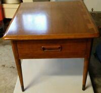 Mid Century Modern Lane Acclaim Dovetail Walnut End Table w/ Drawer