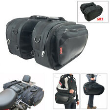 Universal Motorcycle Bike Saddle Bag Rear Tail Side Bags with Waterproof Cover