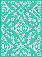 CRICUT CUTTLEBUG 5x7 EMBOSSING FOLDER ~DIAMOND FLOURISH
