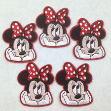 5pcs Minnie Mouse Sew on Iron On Embroidered Patches Appliques Sewing Embroidery