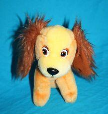 "Disney Lady and The Tramp LADY DOG 7"" Stuffed Animal Soft Toy Orange Plush Sits"