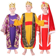 CHILDS WISE MEN COSTUME BOYS THREE KINGS NATIVITY PLAY FANCY DRESS MAN CHRISTMAS