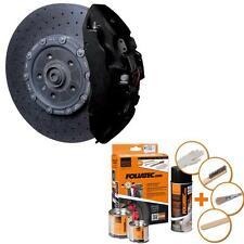 Foliatec Bremssattellack Farbe 2176 Schwarz MATT für 4 Bremssattel + Reiniger