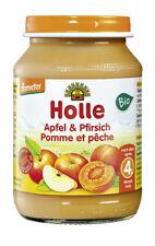 Glas - Demeter Apfel & Pfirsich 190g | HOLLE BABYFOOD