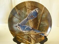 Knowles Blue Jay Bird Kevin Daniel Plate Garden Collection Limited 1985