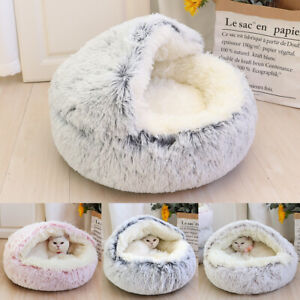 Cat Beds for Indoor Cats Cave Cuddle Warm Plush Igloo Tent House Sleeping Nest