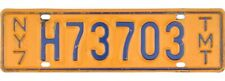 *99 CENT SALE*  1970-1972 New York TRUCK MILE TAX TMT License Plate #H73073 NR
