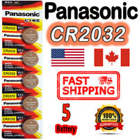 5 Pcs Panasonic CR2032 Button Cell Lithium Battery 3V, BR2032 **EXP. 2030**