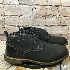 Men's Unbranded Black Slip On Chukka Style Dress Shoes Size 8