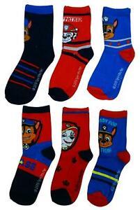 Boys Paw Patrol 3 Pairs Pack Kids Ankle Socks