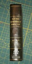 1906 NEW YORK STATE DEPARTMENT OF AGRICULTURE; BULLETINS 01 THRU 04