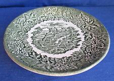 Staffordshire, Untertasse 14 cm, Keramik grün, weitere