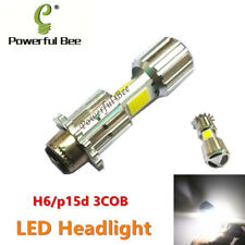 2 x New H6/p15d 3COB 36W LED white motorcycle headlight bulb 12-80V Hi/Lo beam
