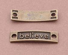 15pc Retro Bronze(believe connector)Bead Charms Accessories wholesale PJ2347
