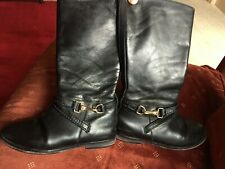 Burberry girl leather boots 30