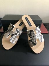 STEVEN by Steve Madden Women's Greece Sandal,, White/Black, Size 8.5 BNWB