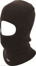 Black Acrylic Knit Thinsulate Insulated Thermal Lined Warm Open Face Balaclava .