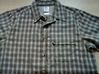 Mens The North Face Short Sleeve Check Shirt Size Small Loose Fitting