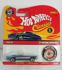 Hot Wheels 1:64 40th Anniversary with Button - Mustang Convertible 65 Brand new
