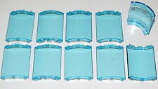 LEGO LOT OF 10 NEW QUARTER CYLINDER 4 X 4 X 6 TRANSPARENT LIGHT BLUE PIECES