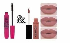 COLLECTION SuperSize Mascara & Velvet Kiss Matte Lip Cream Caramel Nude Lipstick