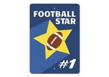 Football Star Sign, Football Player Gift Sign, Football Lover Metal Sign