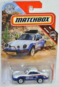 Matchbox 2019 #65 1985 Porsche 911 Rally MOC MBX Off Road #19 Mattel FYP40