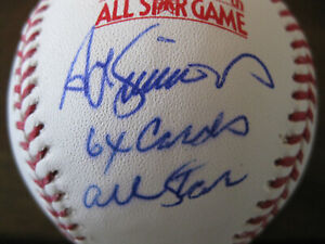 Ted Simmons Signed 1979 All Star Baseball Cardinals