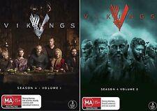 VIKINGS Complete Season 4 Parts 1 - 2 : NEW DVD