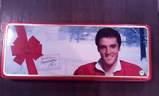 Elvis Presley Christmas at Graceland Snow Russell Stover Candy Tin